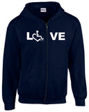 LOVE Zip-Up - Navy Blue