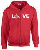 LOVE Zip-Up - Red