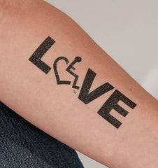 Large LOVE Temporary Tattoos