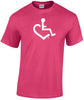 Hot Pink - Original Wheelchair Heart T-Shirt
