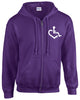 Heart Zip-Up - Purple