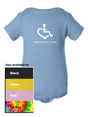 Wheelchair Heart Short Sleeve One-Piece for Babies!