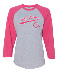 Team 3E Love Baseball Tee - Pink