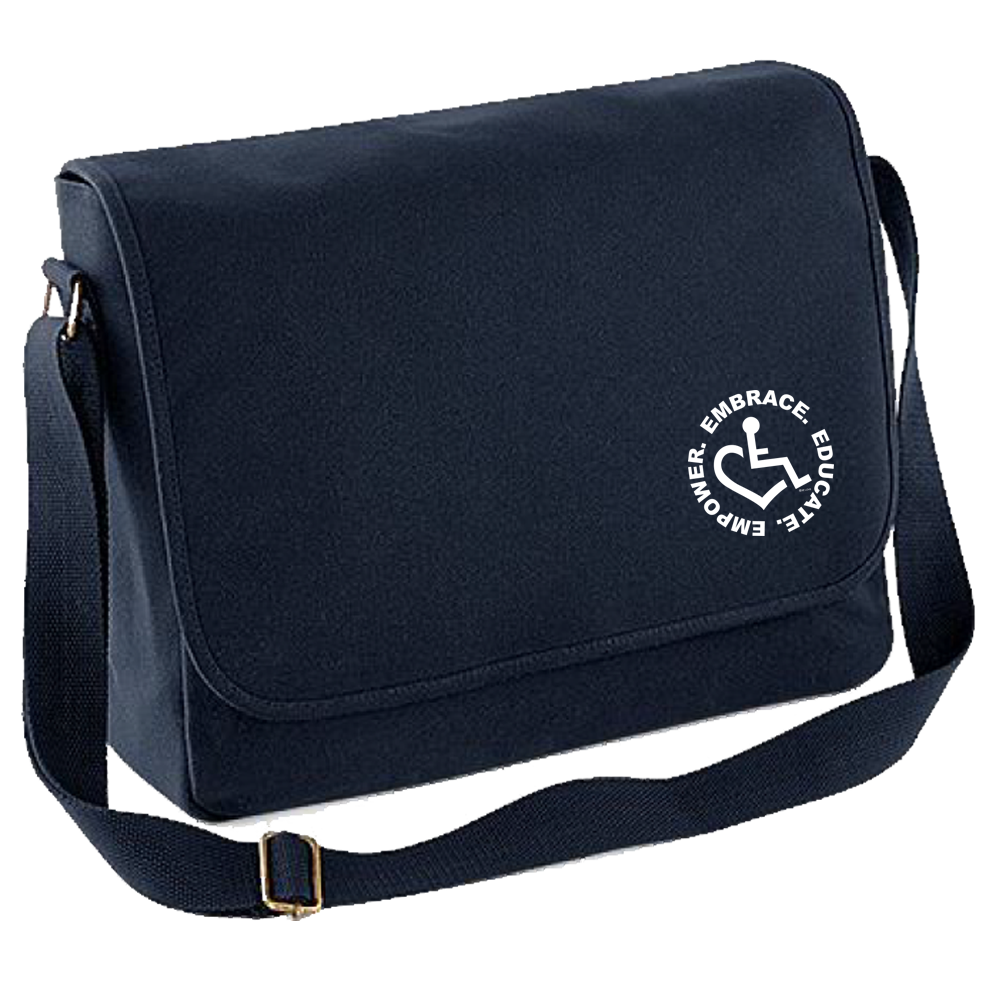 Embroidered Messenger Bag w/ Circle of 3E