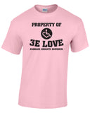 Property of 3E Love Vintage T-Shirt - Light Pink