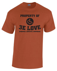 Property of 3E Love Vintage T-Shirt - Sunset Orange