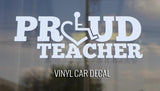 Proud Teacher Car Decal