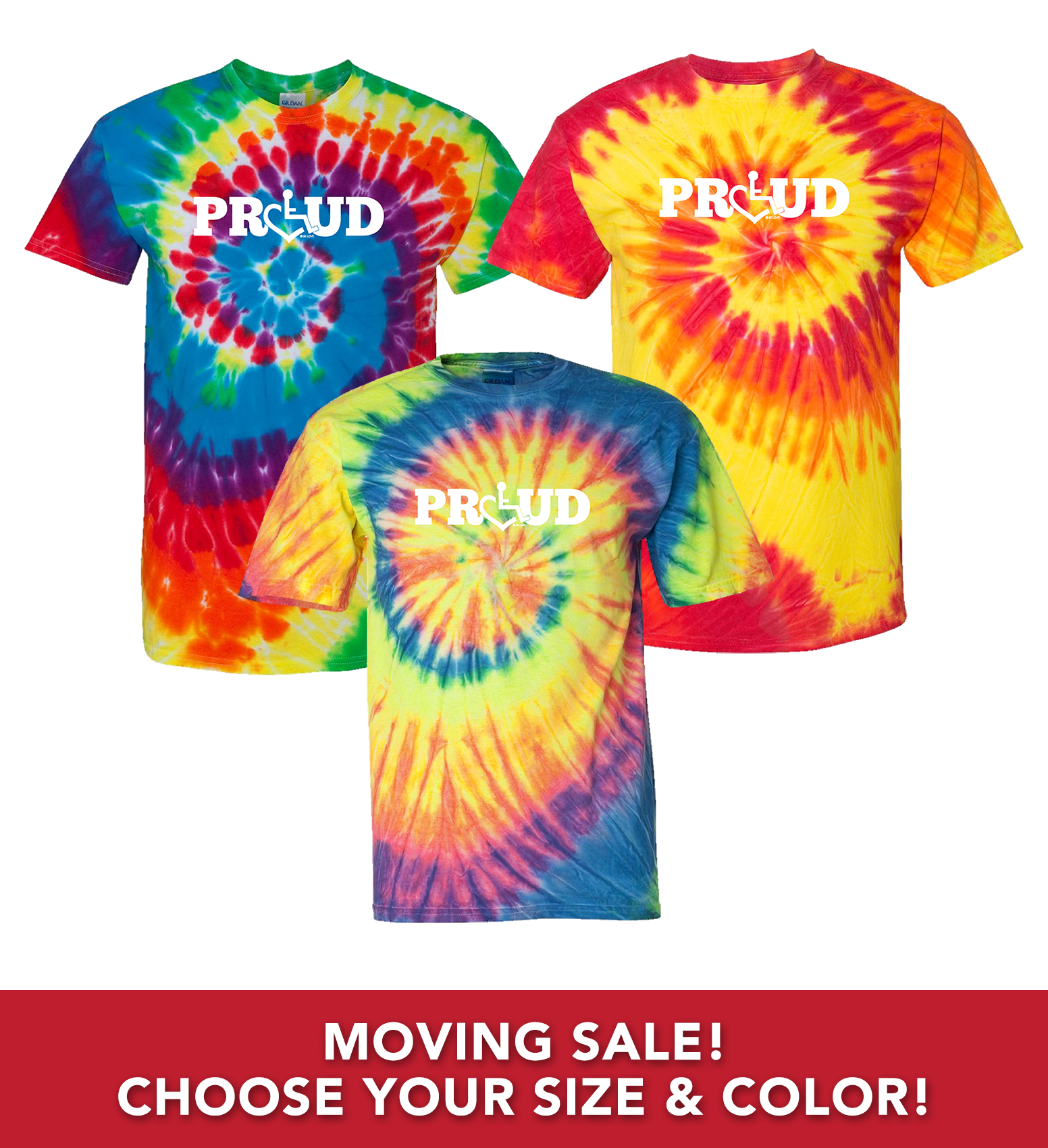 Moving Sale/Tie-Dye T-Shirts (Adult Proud Series)