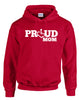 Proud Mom Hooded Pullover