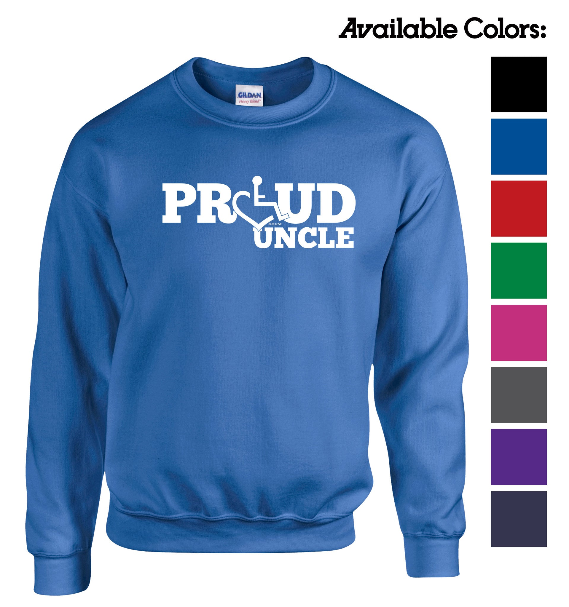 Proud Uncle Crewneck Sweatshirt