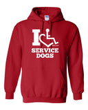 I Heart Service Dogs Hooded Pullover