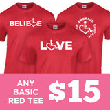Valentine's Day Special Red Tees
