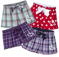 New! Ladies Flannel Pajama Shorts