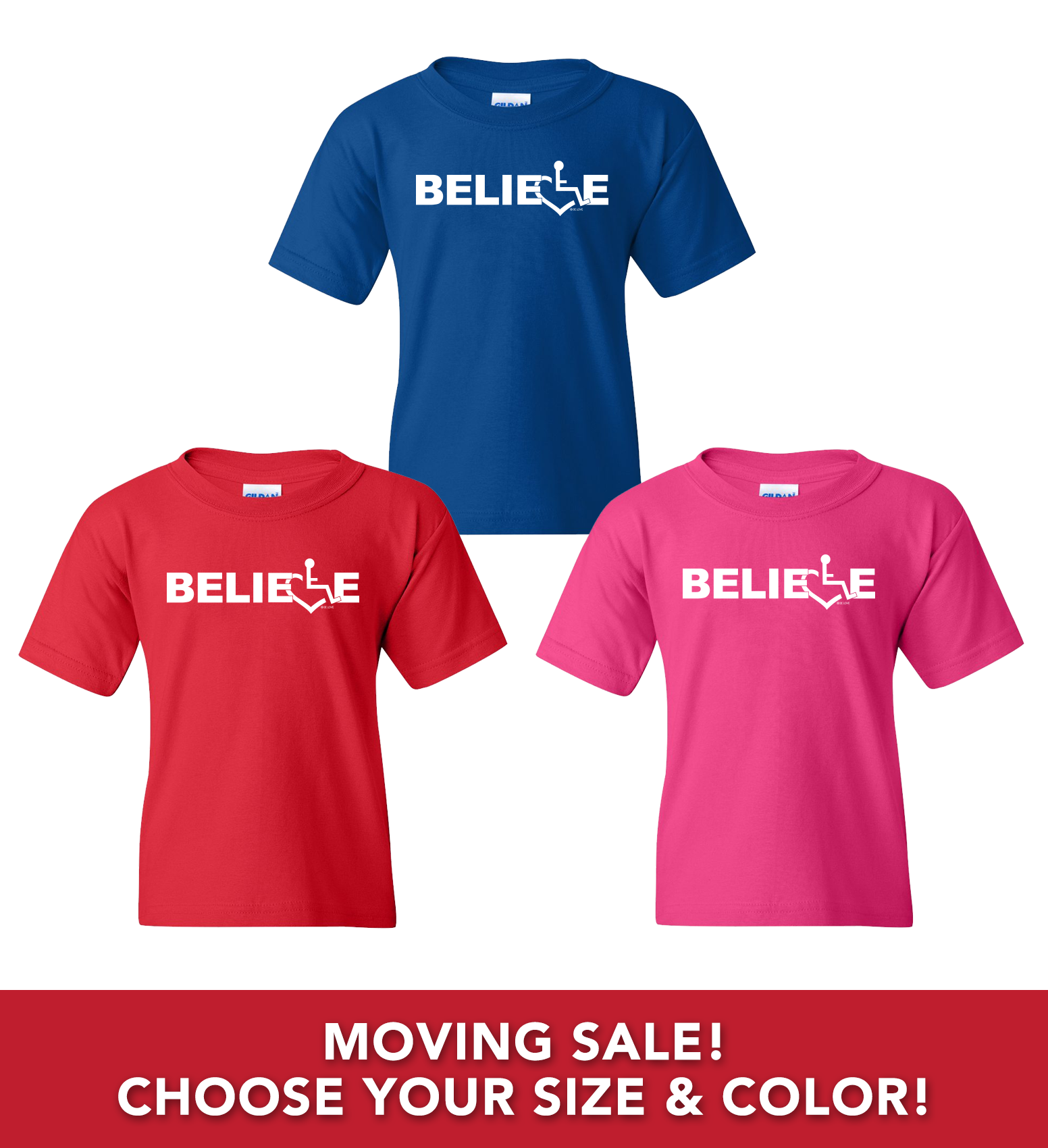 Moving Sale - Believe T-Shirts (Toddler/Youth)
