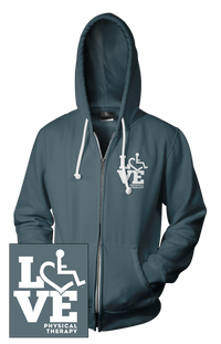 LOVE Physical Therapy Hooded Zip-Up