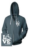 LOVE Rehab Counseling Hooded Zip-Up