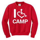 I Heart Camp Crewneck Sweatshirt