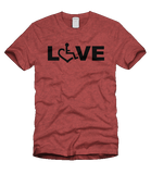 LOVE Tee - Heather Cardinal