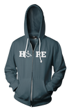 HOPE Hooded Zip-Up - Asphalt