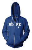 HOPE Hooded Zip-Up - Lapis Blue