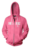 HOPE Hooded Zip-Up - Deep Pink