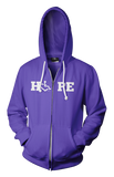 HOPE Hooded Zip-Up - Purple