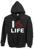 Hooded Pullover - I Heart Life