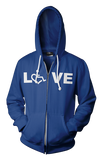 LOVE Hooded Zip-Up - Lapis Blue