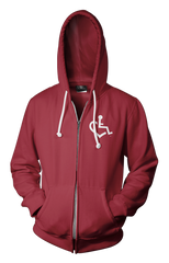 Heart Zip-Up - Cranberry