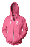 Heart Zip-Up - Deep Pink