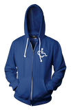 Heart Zip-Up - Lapis Blue