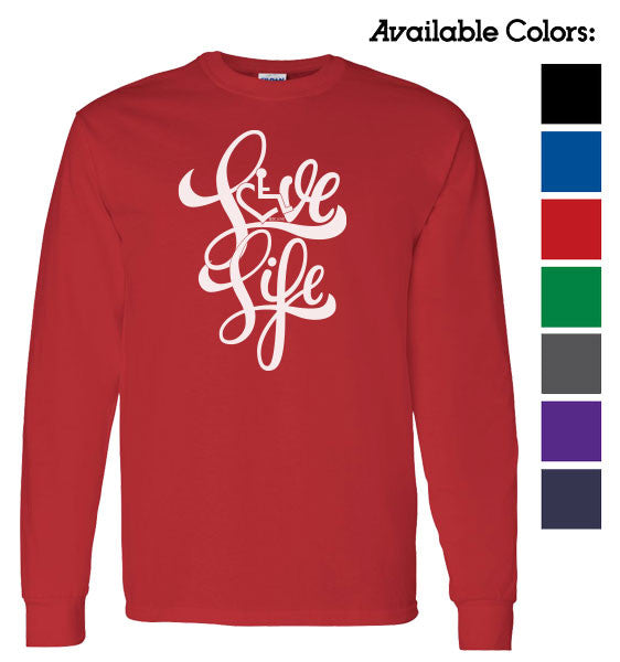 Love Life Script Long Sleeve T-Shirt