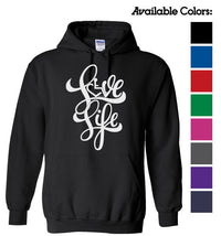 Love Life Script Hooded Pullover