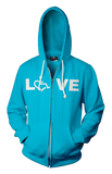 LOVE Hooded Zip-Up - Mermaid Green
