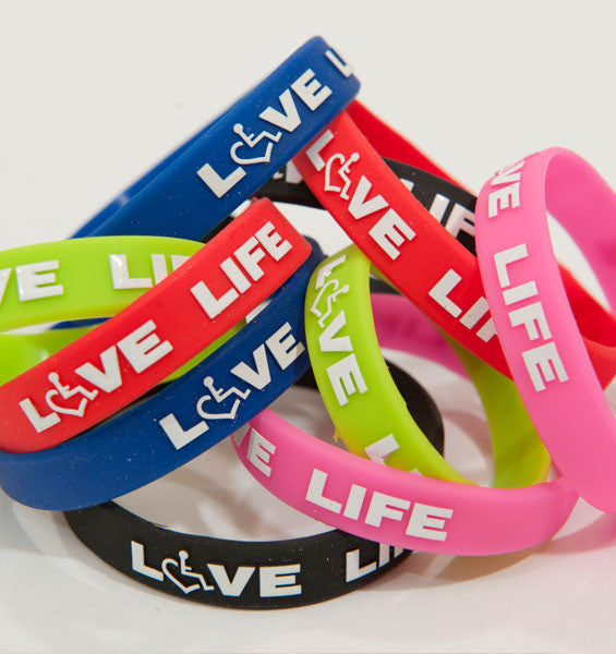 25 High Quality Bracelets 25 Pink /& Blue Silicone Awareness Bracelets Medical Grade Silicone Latex and Toxin Free