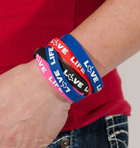 Love Life Silicone Awareness Bracelets