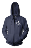 Heart Zip-Up - Navy Blue