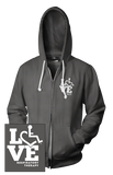 LOVE Respiratory Therapy Hooded Zip-Up