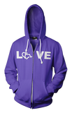 LOVE Hooded Zip-Up - Purple