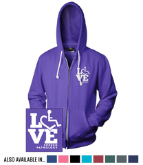 LOVE Speech Pathology Hooded Zip-Up