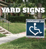 January 20th Yard Sign
