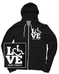 LOVE Music Therapy Hooded Zip-Up