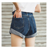 Shorts Women Short Jeans  Leg Elastic High Waist