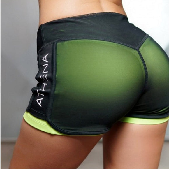 New Fitness Shorts Running Training Shorts Women Mesh Breathable Short For Running Athletic Sport Fitness Clothes