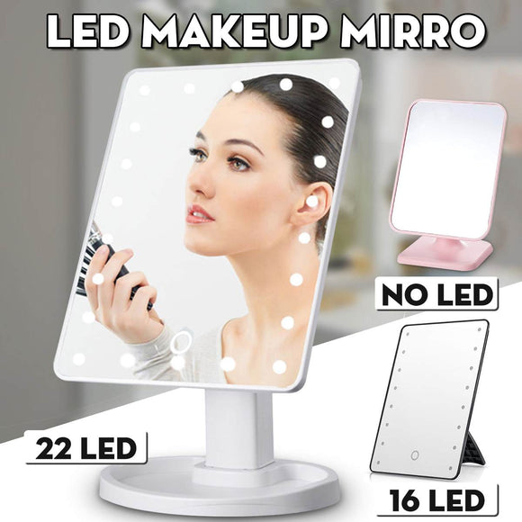 LED Lighted Makeup Mirror With Light Touch Screen