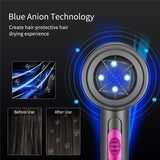 2000W Blue Anion Hair Dryer Mini Low Noise Blow Dryer