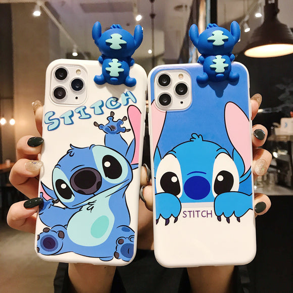 3D Doll Matte Stitch Cute Cartoon Silicone soft  cover