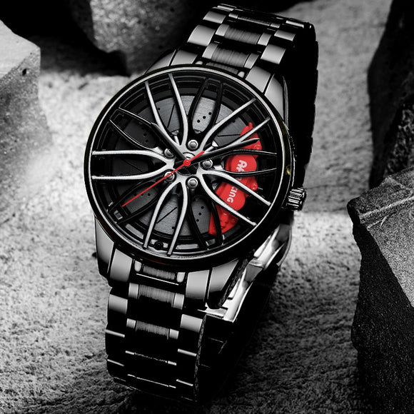 NEKTOM Car Wheel Rim Hub Watch Custom Design Sport  Waterproof