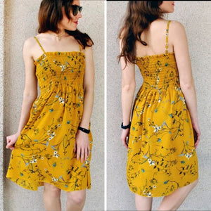 Flower Chiffon  women Dress Beach