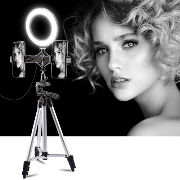 New  Ring Light 4.7 Inch With Tripod Stand Cell Phone Holder USB